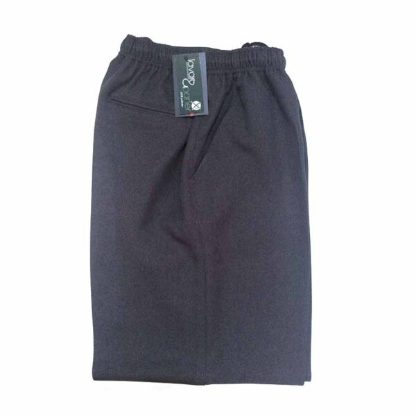 Pantalon De Vestir Azul Marino Con Cintura De Goma Tallas Especiales Ropacaballero Com